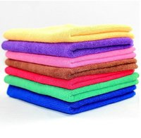 Wholesale cmx30cm usd Microfiber Car Cleaning Towel Microfibre Car wash Cloth Hand Towel H1256