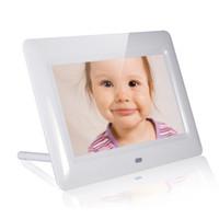 al por mayor de fotos digital marco de la tarjeta-Nuevo Xuenvo X70 7 pulgadas HD LED Digital Photo Frame álbum de fotos electrónico MMC SD tarjeta de disco U Reproducción de vídeo Muisc foto.