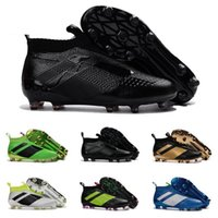 Wholesale Cheap Black Football Cleats - 2017 Cheap Online Wholesale Ace 16+ purecontrol soccer boots Pure Control Football Shoes Soccer Cleats Boots Cheap Football Shoes