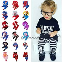 Wholesale 74 style Cartoon Summer Set Superman Long Sleeve Pajama Set Baby Boys Superman Pajamas Batman Sleepwear Children Kids Clothing Set M483