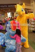 Costume de mascotte de commande France-Ohlees marque Pré-commande Rainbow Dash Mascot Costume Pegasus Pony Costume adulte My Little Pony Amitié est Magic 'Rainbow Horse