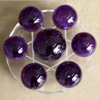 array box - Natural amethyst dipper array Crystal seven creative home furnishing articles purple crystal ball good luck