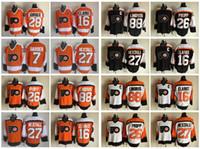bernie parent - 2017 Throwback Ice Hockey Jerseys Philadelphia Flyers Bobby Clarke Eric Lindros Ron Hextall Bernie Parent Bill Barber Propp