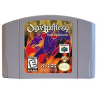Wholesale classic N64 games whole sale Ogre Battle Person of Lordly Caliber USA CANDA version new brand