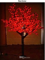 Wholesale LED Christmas Light Cherry Blossom Tree Light LEDs ft M Height VAC VAC Rainproof Outdoor Usage Drop Shipping