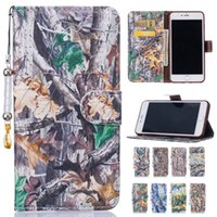 apple tree leaf - Tree Leaf Pattern Flip Wallet PU Leather Card Slot Cover Stand Case For iPhone s plus i7