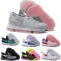 Chaussures kd mens taille 12 France-21 Color Air Zoom KD 9 Chaussures de basket-ball pour hommes KD9 Oreo Gris Loup Kevin Durant 9s Sports d'entraînement Sports Sneakers US Taille 7-12