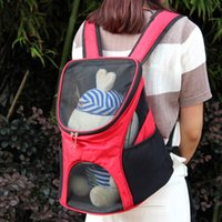 Wholesale Pet Dogs Backpack Shoulders Out Teddy Pet Cat Package Bag Dog Breathable Oxford Cloth Bag Portable Bag Pet Supplies