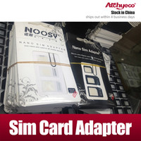 Wholesale 4 in Nano SIM to Micro Standard Card Adapter Adaptors for iPhone PLUS with retail package Eject SIM Card Pin