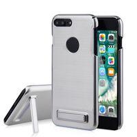 achat en gros de hybrid case-Pour Apple iPhone 7 Plus armure de casque Case 3 in 1 Shockproof Armor Cadre dur TPU Gel Hybrid Kickstand Cover 6S plus Cases