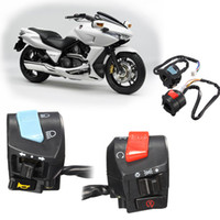 Precio de La iluminación universal,-2017 Rojo y Azul 2pcs Universal 7 / 8inch Motorcycle Handlebar Interruptor de la luz de la señal de vuelta del cuerno AUP_20K