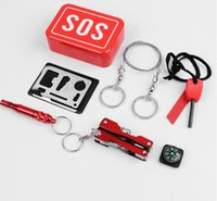 ba kit - Portable Emergency Outdoor Equipment Emergency Bag Survival Kit Box Self help Box SOS Equipment For Camping Hiking Rated bas