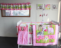 baby girl comforter sets - active printing cotton baby girl crib bedding set cot bedding comforter bumper bedsheet hot sale baby products nursery accessories