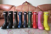 Wholesale Short Rainboots Women - 2016 Christmas Short Rain Boots Women Wellies Rainboots Ms.glossy Wellington Short Boots Ms.glossy Women Wellington Rainboots