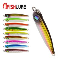Afishlure Long Shot Медленная тонущая металлическая пластина Lead Jig 34г 73мм Рыболовная приманка Многоцветная пресноводная / соленая рыбалка