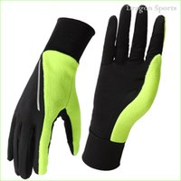 Wholesale Unisex Cotton Spring Summer Running Glove with Pocket Thermal Mittens for Jogging Reflective M L