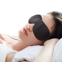 Wholesale 3D Eye Mask Healthy Care Black Eyeshade Soft Sponge Sleeping Eye Mask Cover Shade Eyepatch Portable Travel Blindfold