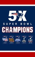 Wholesale Patriots Flag House Flag X5FT times SUPER BOWL CHAMPIONS Sport Team Banner Material Polyester two metal grommets
