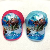 baby kid hat - New Moana children hat cartoon baseball caps baby kids ship hop hat C1695