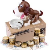 Wholesale Dog Coin Eating Save Money Box CHOKEN BAKO Cute My Dog Model Piggy BANK Eat Bank Money Save Pot Saving Coin Box KKA1223