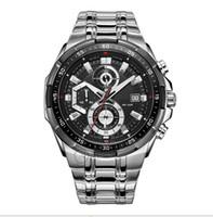 Wholesale Brand NEW EF D AV Men Sport D Chronograph Watch EF D Stainless Steel sport watch