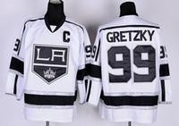 angeles vintage - Los Angeles Kings Wayne Gretzky Hockey Throwback Jerseys St Louis Blues LA Los Angeles Kings Vintage Blue White Black Yellow Orange A08