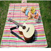 baby foam mattresses - 2016 New outdoor camping Aluminum Film picnic blanket waterproof picnic mat waterproof outdoor cushions Baby Climb Plaid Blanket Picnic