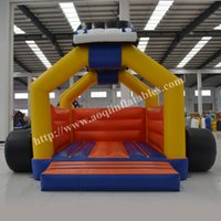amusement park cars - AOQI amusement park equipment inflatable car bouncer commercial use inflatable colorful jumping bouncer house for kid