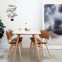 bedroom smell - For Wake Up Smell Coffee Wall Stickers Kitchen Decal Removable Art Vinyl Funny Personality Home Decor Mural Diy