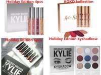 Wholesale In stock Kylie holiday Edition lip gloss kylie Koko Kollection Set KYLIE EYESHADOW HOLIDAY EDITION