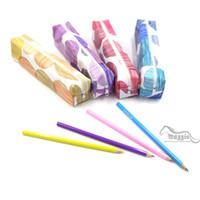 Wholesale Korean Colorful Polka Dots Cute Pencil Bag Makeup Cosmetic Bag Pouch Organizer Pen Pencil Case School Supplies Gift