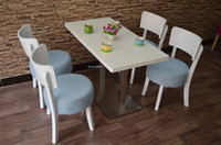 Wholesale wooden table and chair set for restaurant or bakery store