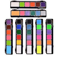 Wholesale 1 Set Face Body Paint Oil Painting Art Make Up Halloween Party Fancy Dress Flash Tattoo Color Makeup Tools