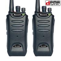 al por mayor 2w power range-2PCS dPMR Digitaces Radio RS208D 2W Walkie Talkie de la energía 5-10km Radio de la gama 2 de la charla Radio 16 canales 136-174MHz / 400-470MHz Transceptor