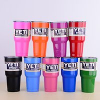 Wholesale YETI oz oz Cup Cooler Rambler Tumbler Travel Cars Beer Mug Double Wall Bilayer Vacuum Insulated Stainless Steel Large Capacit HOT
