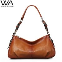 Wholesale Vintage Genuine Leather Handbag Women Fashion Shoulder Bag Designer Retro Style Cowhide Hobo Female Purse Bolsas Femininas