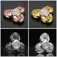 Wholesale CKF American EDC Tools Hand Spinner Triangle Pepyakka Torqbar Brass Fidget Spinners Decompression Finger Toys Anxiety Spinning Top sy
