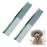 best pet grooming - Best Price Cute Pet Dog Cat Stainless Steel Comb Long Hair Shedding Grooming Flea Comb