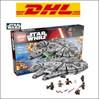 Wholesale Free DHL Ship Star Wars Millennium Falcon Force awakening assembling building blocks compatible with Best Gift for children