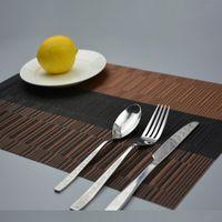 Wholesale set Retro placemat dining table mats set de table bowl pad napkin dining table tray mat coasters kids table set Casa