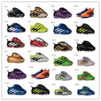 Wholesale ACE PureControl FG AG Soccer Shoes Laceless Football Shoes Messi Soccer Boots Football Boots ACE Primeknit Soccer Football Cleats