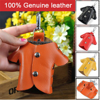 Wholesale New Genuine Leather Creative Lovely Key Holder Solid Key Wallets Bag Car Housekeeper Holders Key Organizer DC52