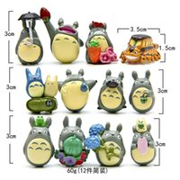 Unisex 3 & 4 Years null Online shopping (12pcs lot) my neighbor Totoro figure gifts doll resin miniature figurines Toys 1-3cm PVC plactic japanese cute anime GYH