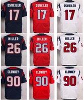 autumn miller - Mens Football Jerseys Brock Osweiler Lamar Miller Jadeveon Clowney Stitched Elite Jersey White Red Navy Blue