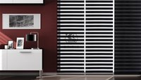 Wholesale customized measurements of ready made double layer sun shading and light filtering sheer zebra blinds