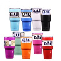 Wholesale YETI Coolers Rambler Mugs Bilayer Hot Stainless Steel Insulation Cup Beer Mug OZ OZ Double Wall Bilayer DHL Shipping