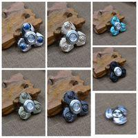 Wholesale Fidget Spinner Fidget EDC Spin Toy Aluminum Bearing Fidget Toy Army Green HandSpinner Reduce Pressure Toys Hand Spinner KKA1245
