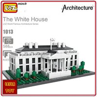 abs architecture - LOZ ideas Mini Block The White House United States Presidential Palace ABS Architecture Building Blocks DIY Toy Model Education Toys