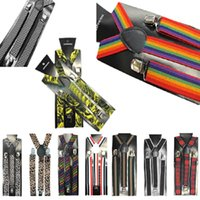 Wholesale Style cm Unisex Skinny Thin Slim Suspenders Elastic Clip on Braces Solids brand New