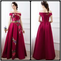 big boats pictures - High Quality Prom Dresses Fashion Summer Satin With Big Flowers A Line Prom Dress Boat Neck Prom Dresses Vestido De Festa